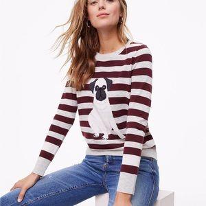 Loft Striped Pug Sweater